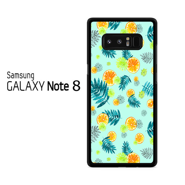 Leaf And Orange Pattern For Samsung Galaxy Note 8 Case