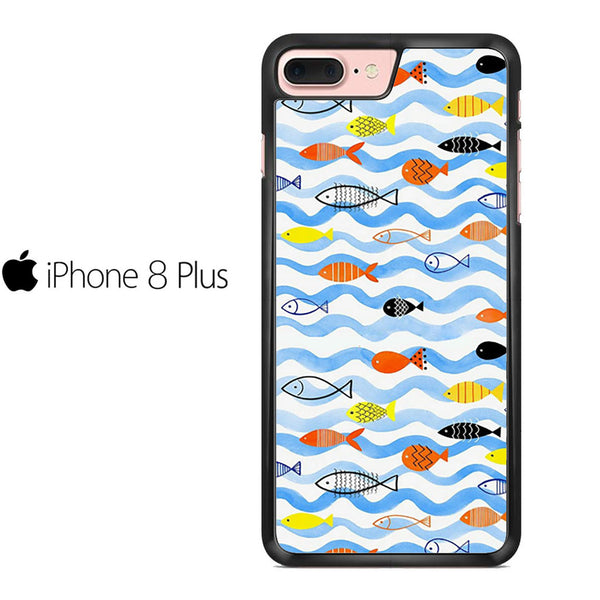 Watercolor Fish Pattern For IPHONE 8 PLUS Case