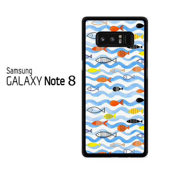Watercolor Fish Pattern For Samsung Galaxy Note 8 Case