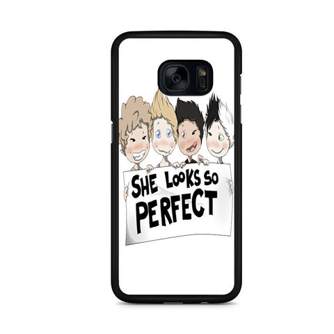 5 Seconds Of Summer Fan Art For Samsung Galaxy S7 Edge Case