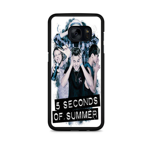 5 Seconds Of Summer Headache Official Poster For Samsung Galaxy S7 Edge Case
