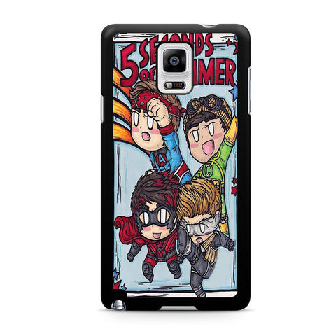 5sos Member Being Hero For Samsung Galaxy Note 4 Case