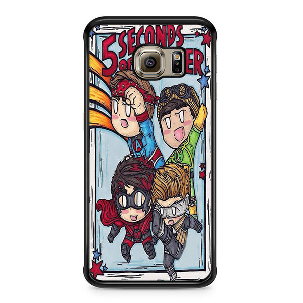 5sos Member Being Hero For Samsung Galaxy S6 Edge Case