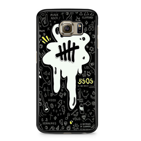 5sos Logo Art Black And White For Samsung Galaxy S6 Case
