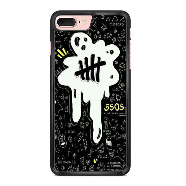 5sos Logo Art Black And White For Iphone 7 Plus Case
