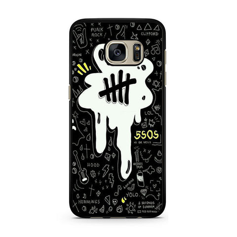 5sos Logo Art Black And White For Samsung Galaxy S7 Case