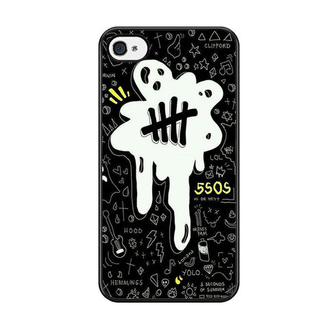 5sos Logo Art Black And White For Iphone 5 Iphone 5S Iphone SE Case