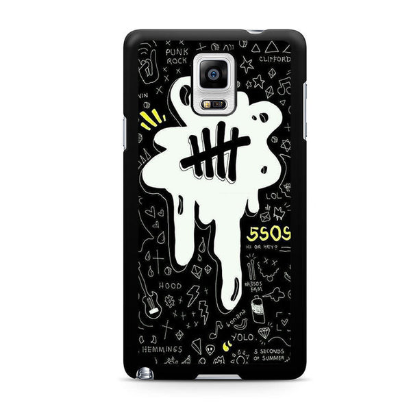 5sos Logo Art Black And White For Samsung Galaxy Note 4 Case