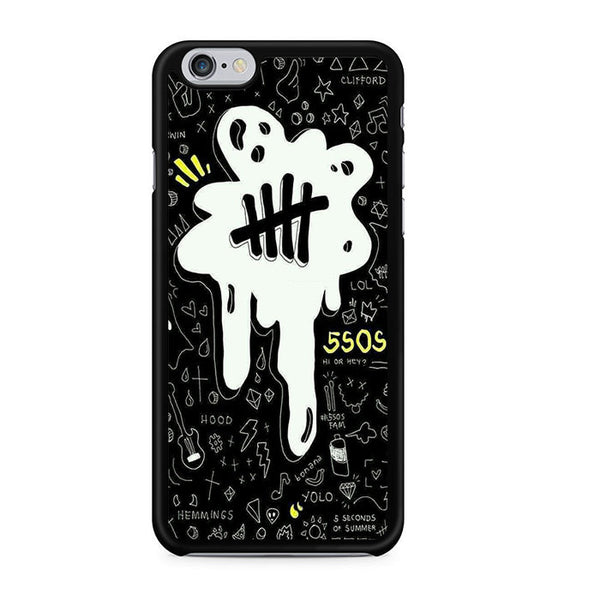 5sos Logo Art Black And White For Iphone 6 Iphone 6S Case