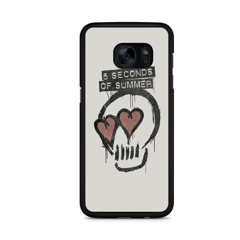 5 Seconds Of Summer Skull Logo For Samsung Galaxy S7 Edge Case