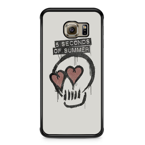 5 Seconds Of Summer Skull Logo For Samsung Galaxy S6 Edge Case