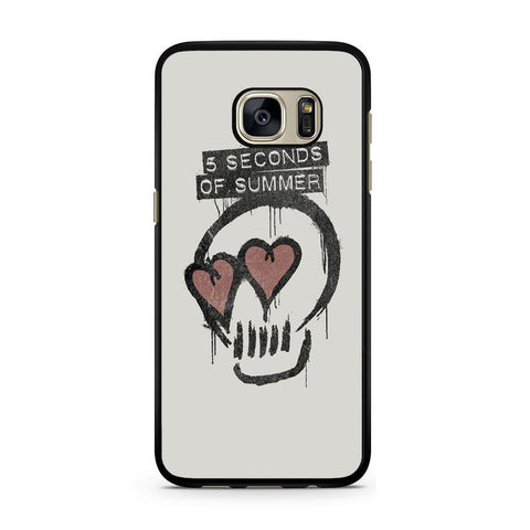 5 Seconds Of Summer Skull Logo For Samsung Galaxy S7 Case