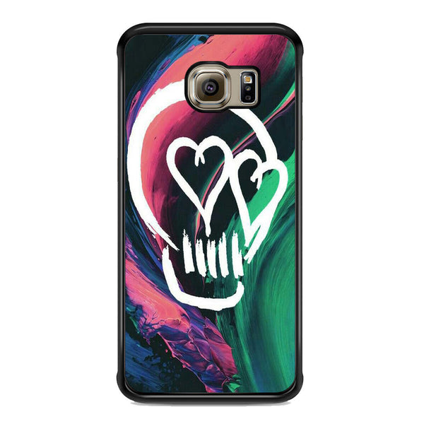 5 Seconds Of Summer Skull For Samsung Galaxy S6 Edge Plus Case