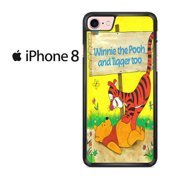 buy online 0ca75 5bbc2 Winnie The Pooh And Tigger Too Classic Book Cover For IPHONE 8 Case