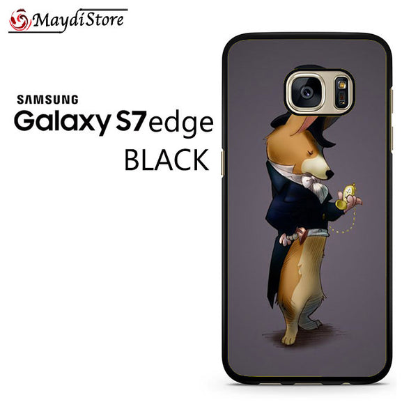 19th Century Men Corgi Fashion For Samsung Galaxy S7 Edge Case