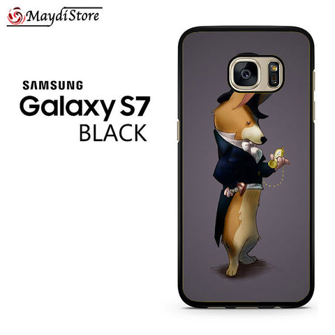 19th Century Men Corgi Fashion For Samsung Galaxy S7 Case