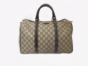 Gucci Beige/Ebony GG Monogram Coated Canvas Medium Boston Joy Bag