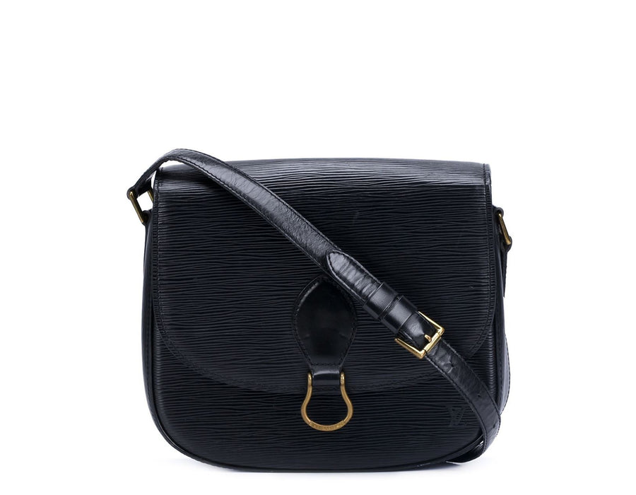 Louis Vuitton Black Epi Leather Saint Cloud Crossbody Bag