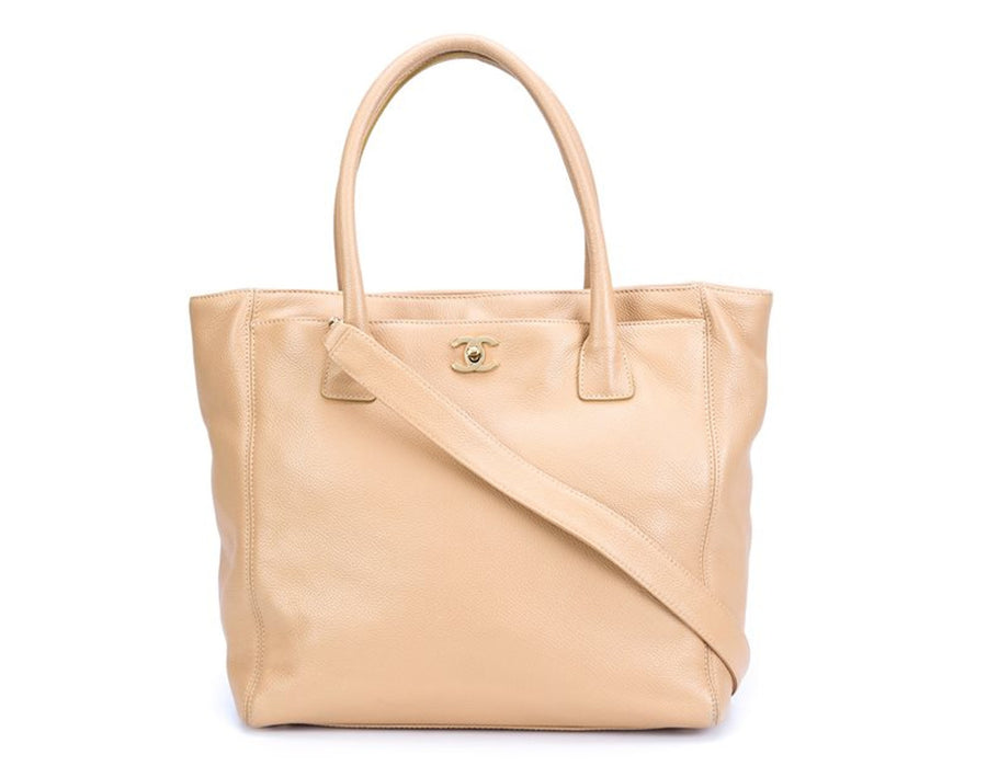 Chanel Beige Calfskin Executive Cerf Tote Bag