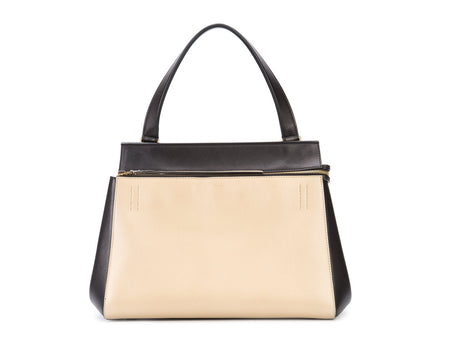 Celine Beige and Black Calfksin Edge Bag