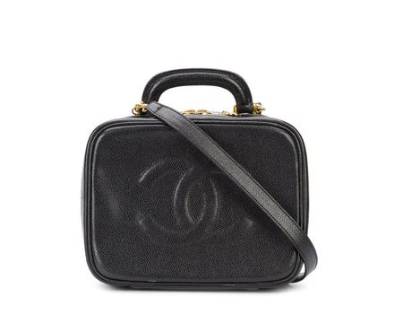 Chanel Black Caviar Vanity Case Bag