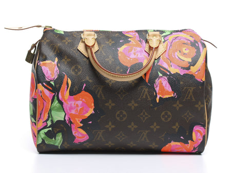 Louis Vuitton Limited Edition Monogram Canvas Stephen Sprouse Roses Speedy 30 Bag