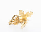 Chanel Gold Drop CC Cross Vintage Clip On Earrings