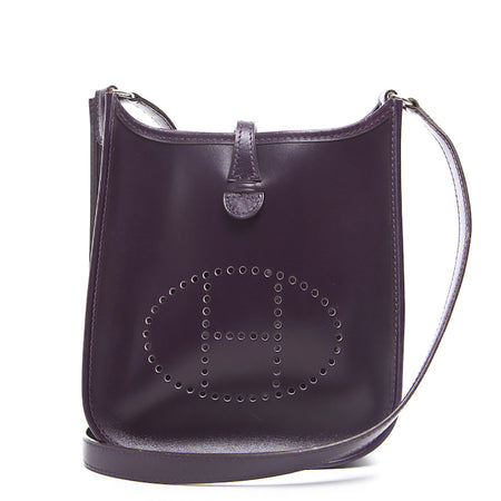 Hermes Raisin Box Calf Evelyne TPM Bag