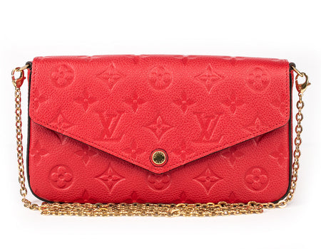 Louis Vuitton Red Empreinte Pochette Felicie Bag