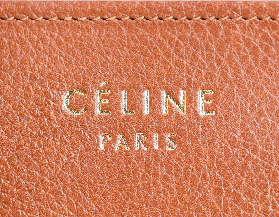 Celine Brown Smooth Calfskin Mini Luggage Bag