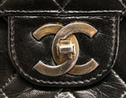 Chanel Vintage Black Lambskin Bijoux Chain Medium Double Flap Bag