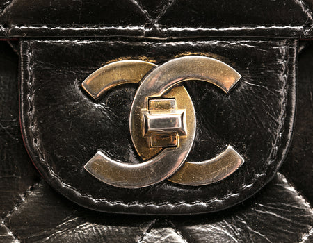 Chanel Argent Lambskin Maxi Double Flap Bag