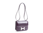 Hermes Raisin Box Calf 18cm Constance Bag PHW