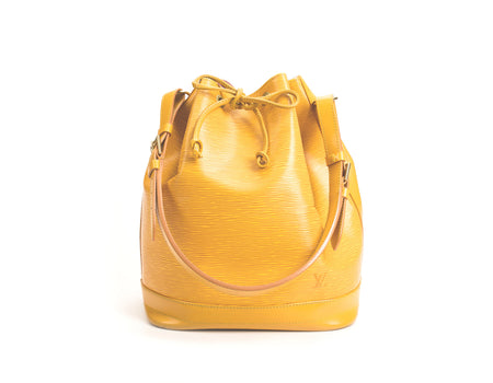 Louis Vuitton Tassil Yellow Epi Leather Noe Bag