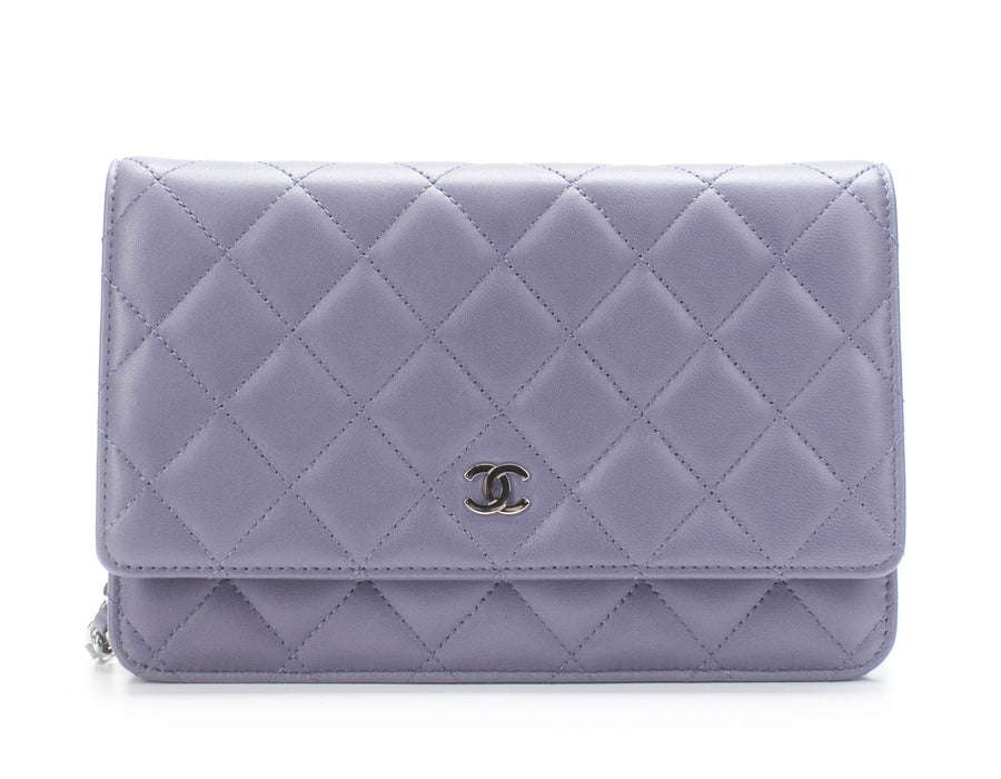 Chanel Periwinkle Lambskin Quilted WOC Wallet on Chain Bag