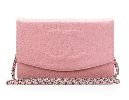 Chanel Pink Caviar CC Envelope WOC Wallet On Chain