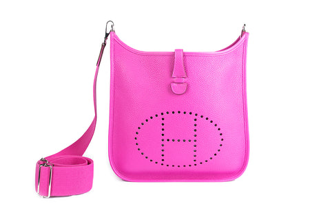 Hermes Magnolia Pink Evelyne III PM Crossbody Bag New