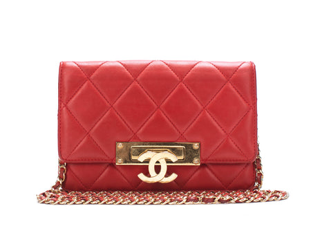 Chanel Red Lambskin Golden Class WOC Wallet on Chain