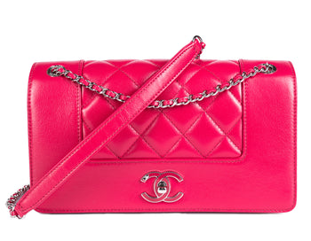 Chanel Dark Pink Mademoiselle Vtg 2018 Flap Bag