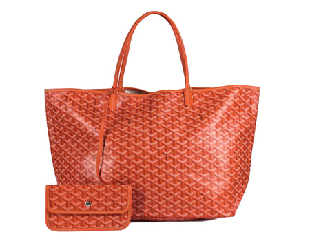 Goyard Orange Monogram Coated Linen Saint Louis GM Bag