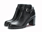 Christian Louboutin Black Leather Ankle Boot Sz 36