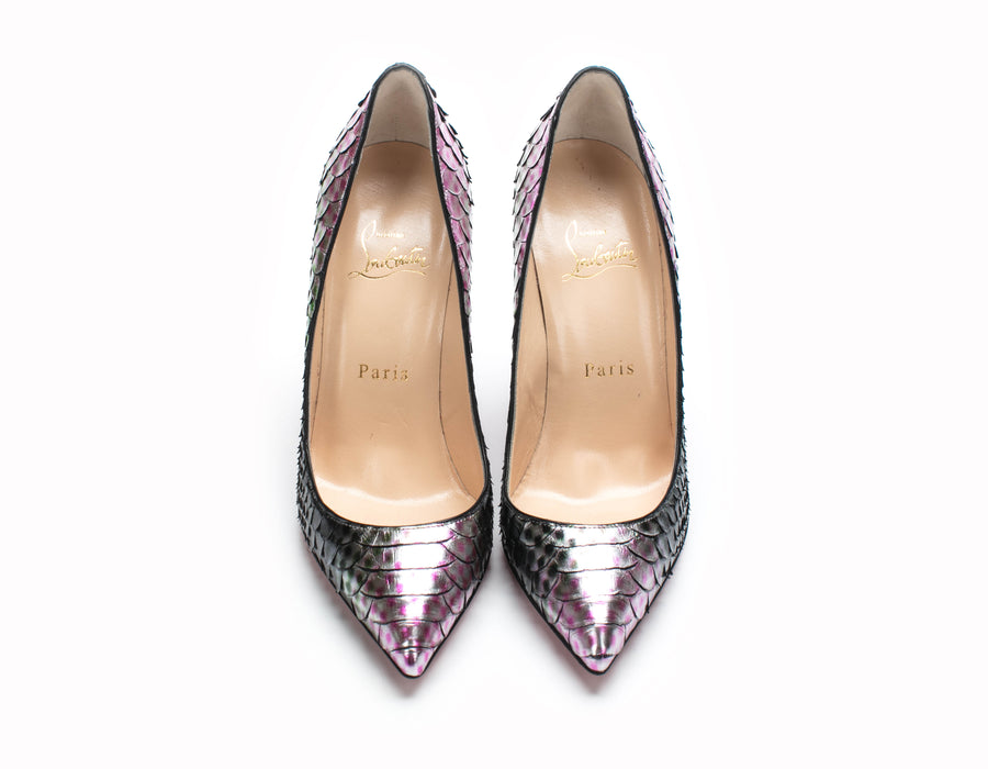 Christian Louboutin So Kate Pink Mermaid Pumps Size 36.5