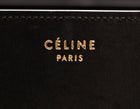 Celine Black Brown Beige Tricolor Calfskin Mini Luggage Bag