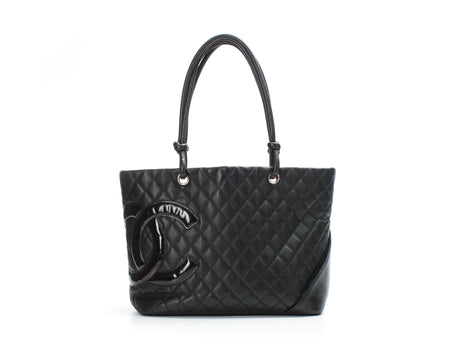 Chanel Brown Lambskin CC Large Cambon Tote Bag