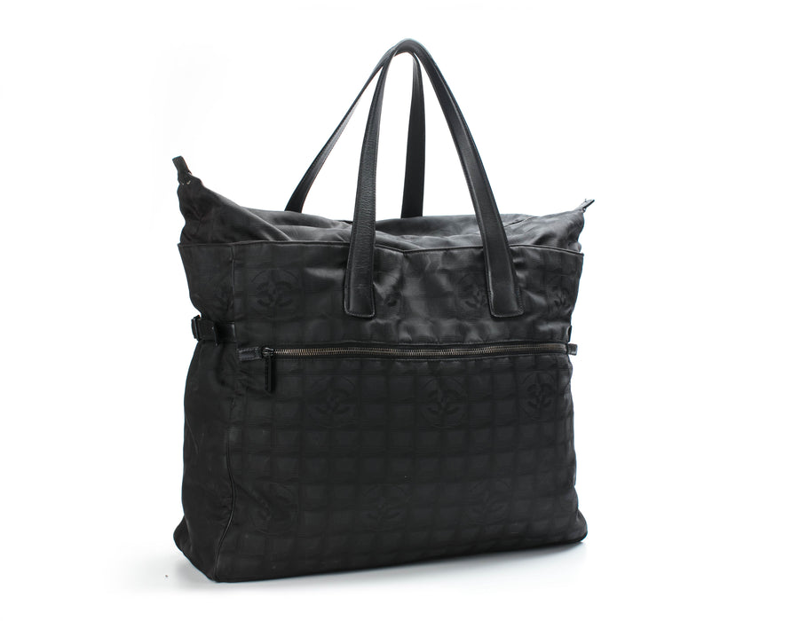 Chanel Black Travel Ligne Extra Large Tote Bag