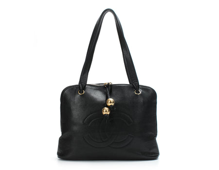 Chanel Black Caviar Vintage CC Shoulder Bag