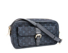 Louis Vuitton Navy Mini Lin Juliette MM Crossbody Bag