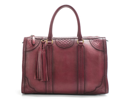 Gucci Scarletto Microguccissima Duilio Perforated Brogue Leather Tote Bag