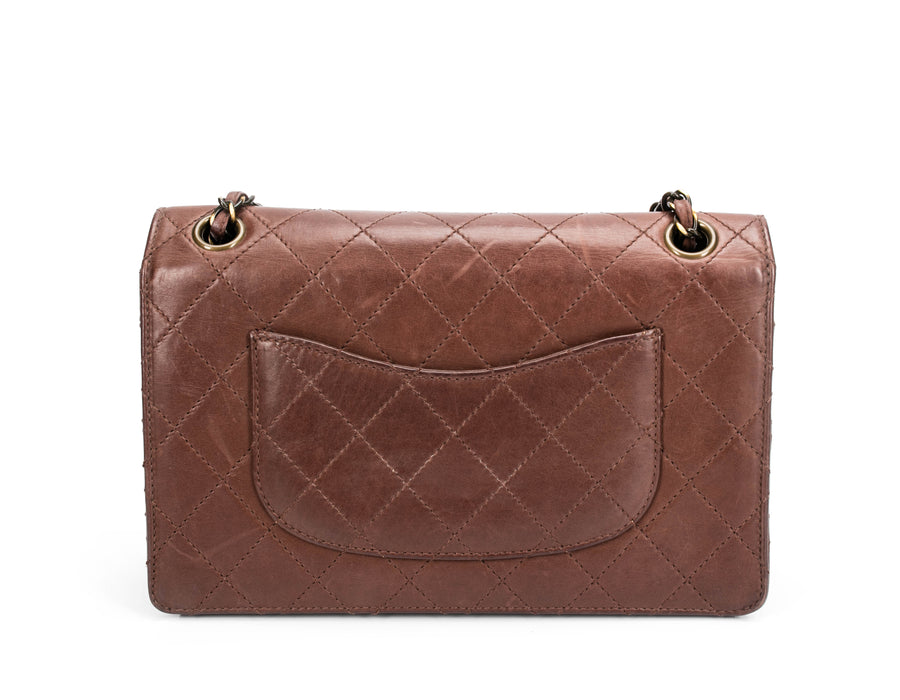 Chanel Brown Lambskin Vintage Medium Single Flap Bag
