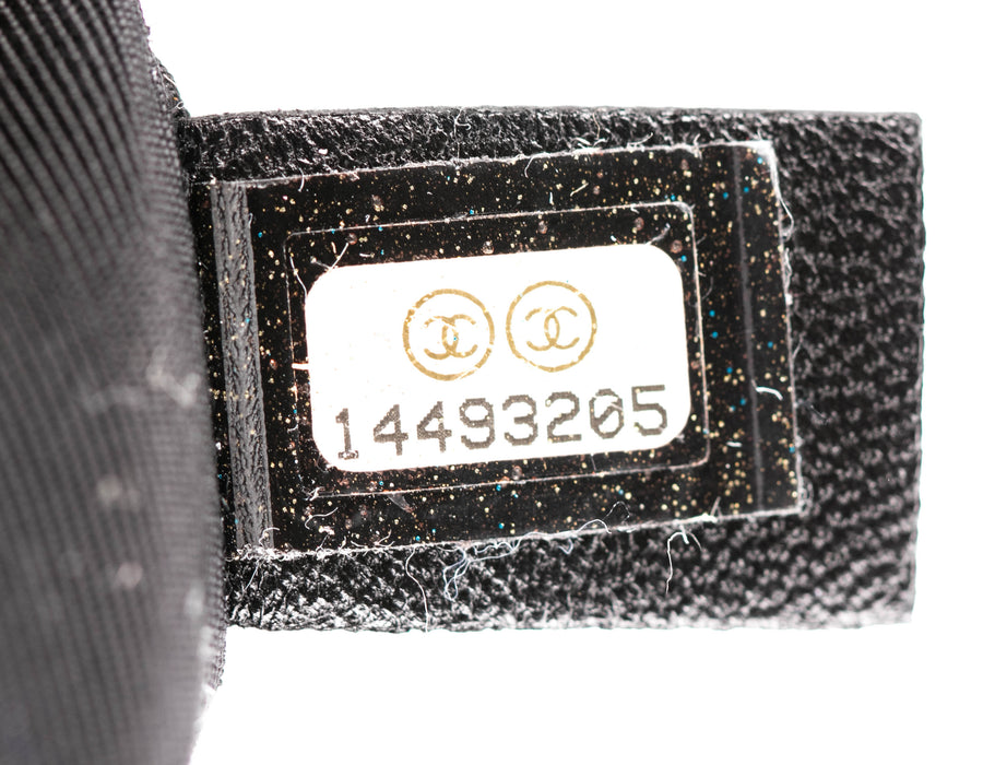 Chanel Black Calfskin Chain Around Hobo Bag